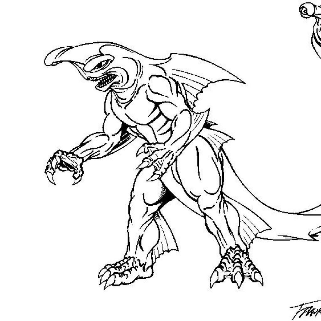 Coloring pages ultraman - Kaiju Coloring Pages Sketch Templates