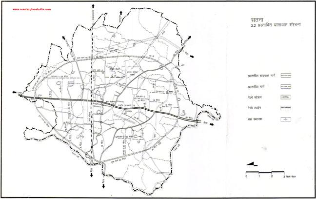 Satna Proposed Transportation Pattern Map PDF Download
