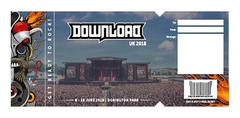 Download Festival Gift Certificates - Download Festival - gift certificate download