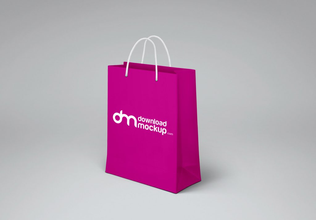 Shopping Paper Bag Design Mockup Free PSD