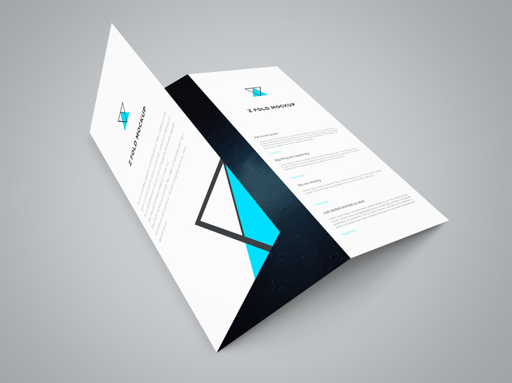 Download Tri Fold Brochure Mockup Template Free PSD at - Tri Fold Brochures Free