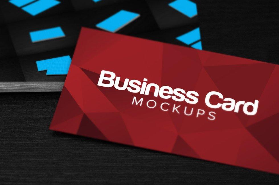 3 Business Card Mockups Free PSD