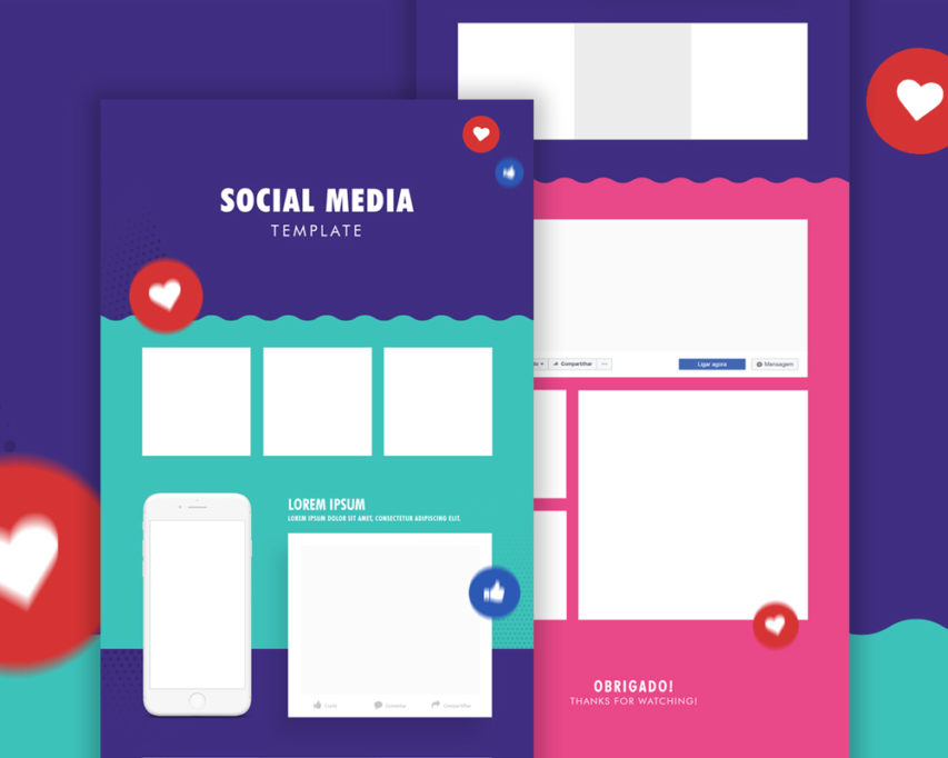 Macbook Mockup Behance Social Media Template Psd | Download Mockup