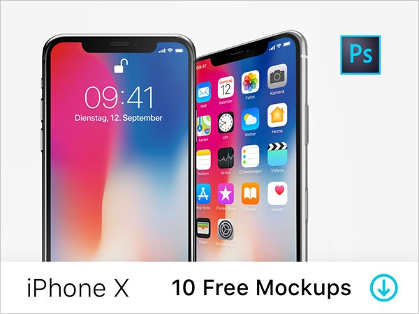 45+ Free Apple iPhone X Mockup PSD templates - Download PSD