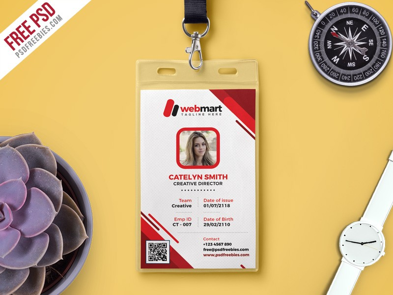 Photo ID Card Template Free PSD Download - Download PSD