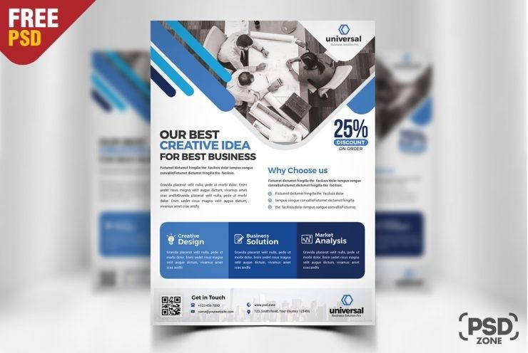 Corporate Business Flyer Template PSD Download - Download PSD