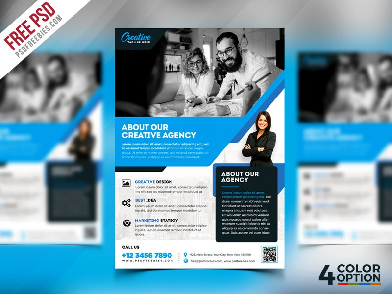 Free Corporate Flyer Template PSD Download - Download PSD