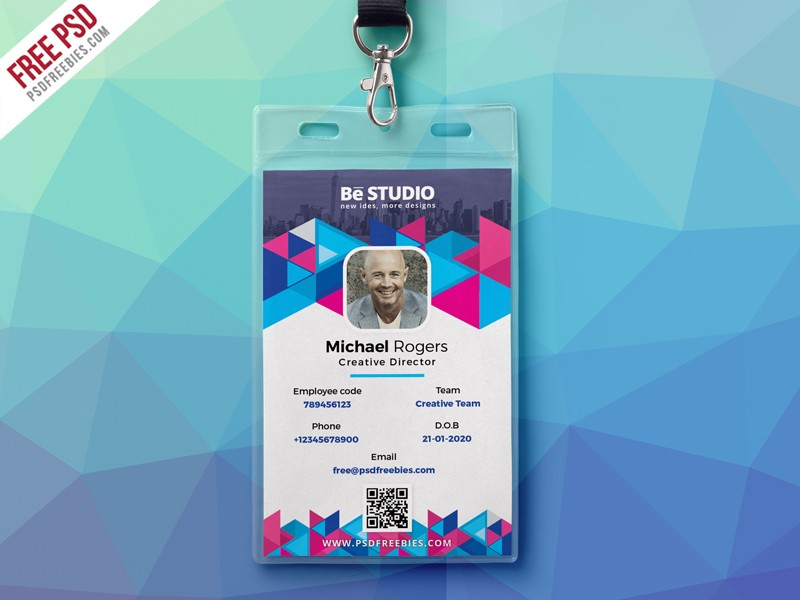 Download Free student id card PSD - Download PSD