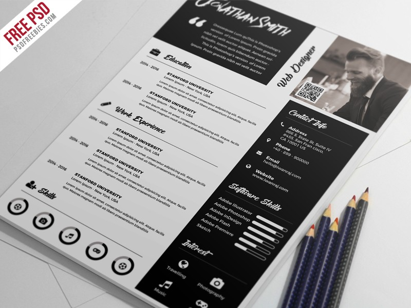 Free Resume Template PSD Download - Download PSD - free resume template design