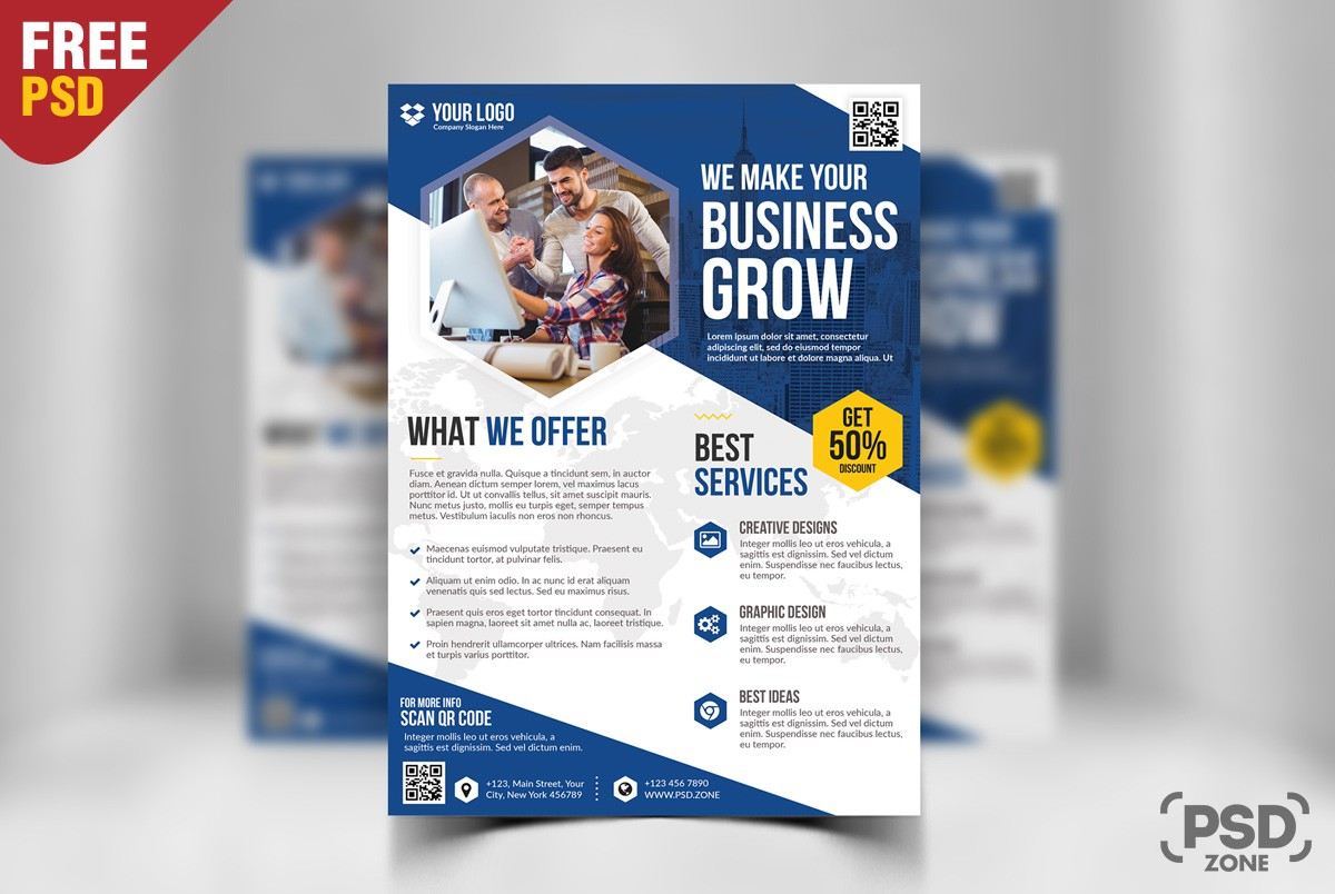 Flyer Ideas Free Business Flyer Template Psd Download Download Psd