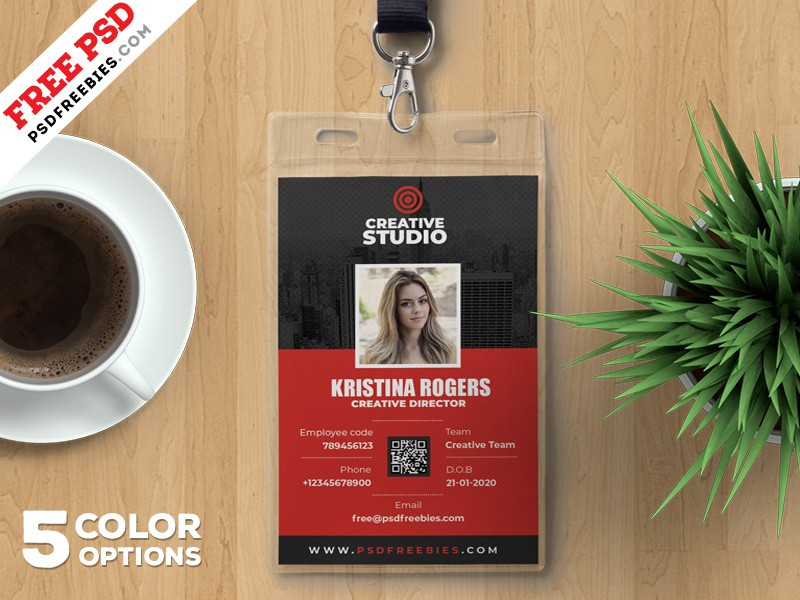 Employee Identity Card Template PSD - Download PSD