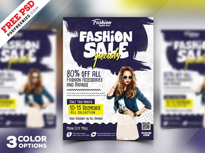 Download Free Flyers PSD - Download PSD - discount flyer template