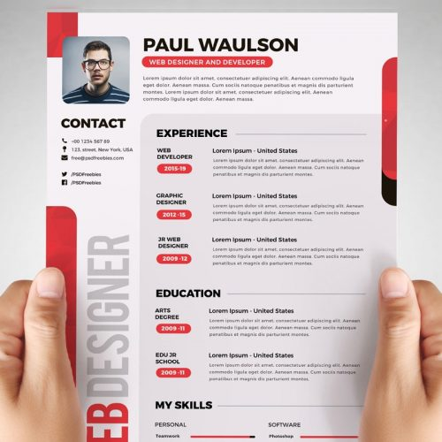 Download Free Resume Templates PSD - Download PSD - web resume