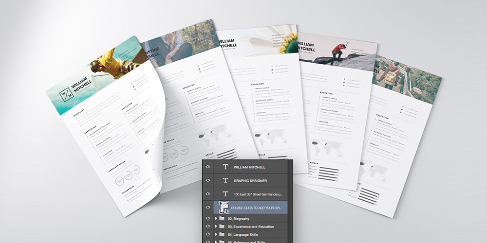 25+ Best Free Resume / CV Templates PSD Download - Download PSD - Free Graphic Design Resume Templates