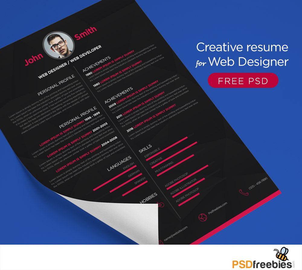 cv web designer psd
