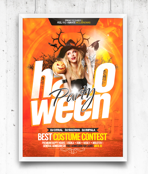 Halloween Party Flyer Free Template PSD Download - Download PSD