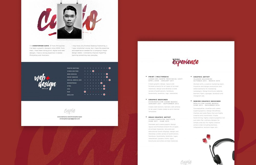 Web Designer Resume Template Free PSD Download - Download PSD - web designer resume template