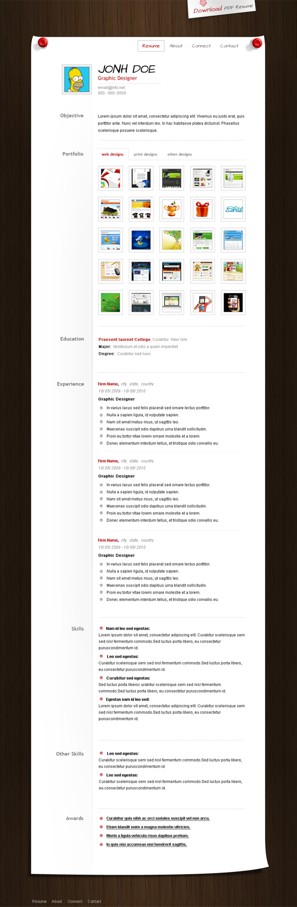 build your own resume website