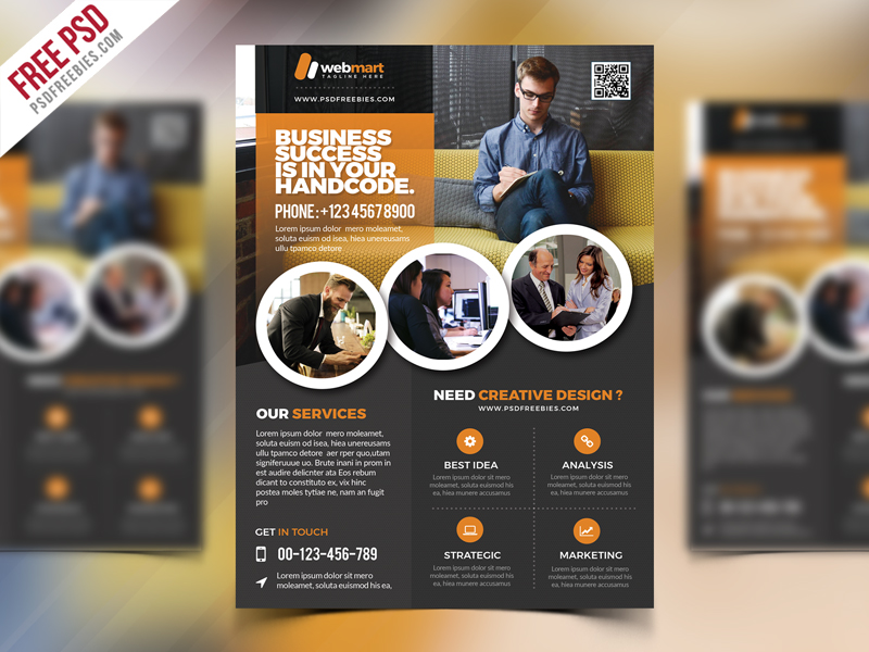 Corporate Flyer Template Free PSD Download - Download PSD