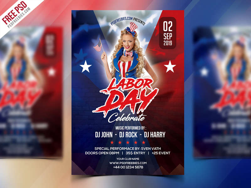 Free Labor Day Celebration Flyer PSD - Download PSD