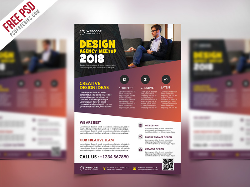 Conference Announcement Flyer PSD Template Download - Download PSD