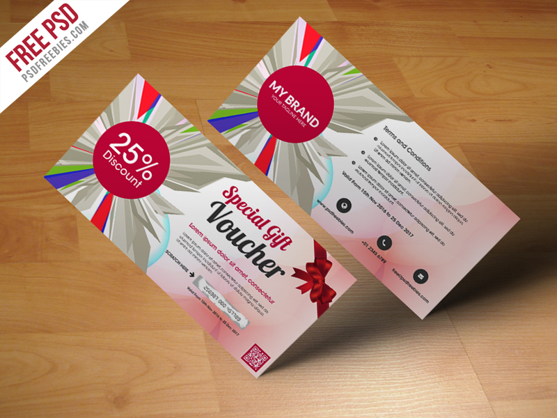 Multiuse Gift Voucher Template Free PSD Download - Download PSD - Lunch Voucher Template