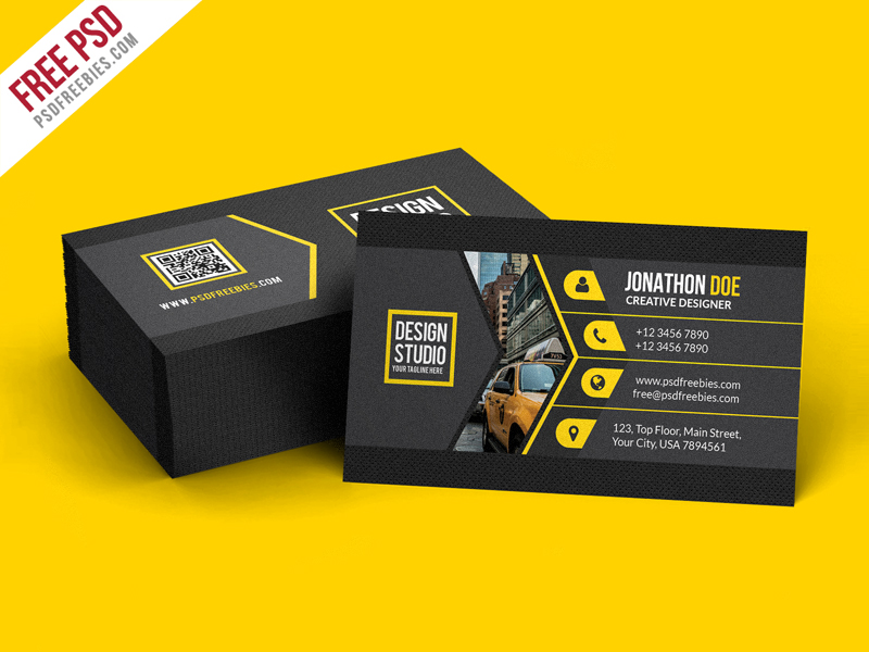 Creative Black Business Card Template PSD Download - Download PSD - web designer business card