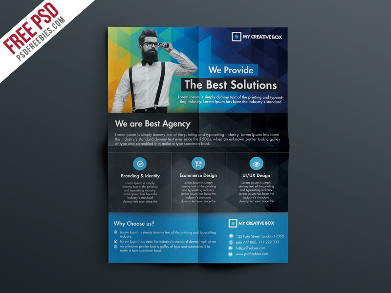 Free Multipurpose Corporate Flyer Template PSD Download - Download PSD - web flyer template