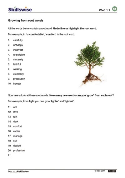 Growing from root words