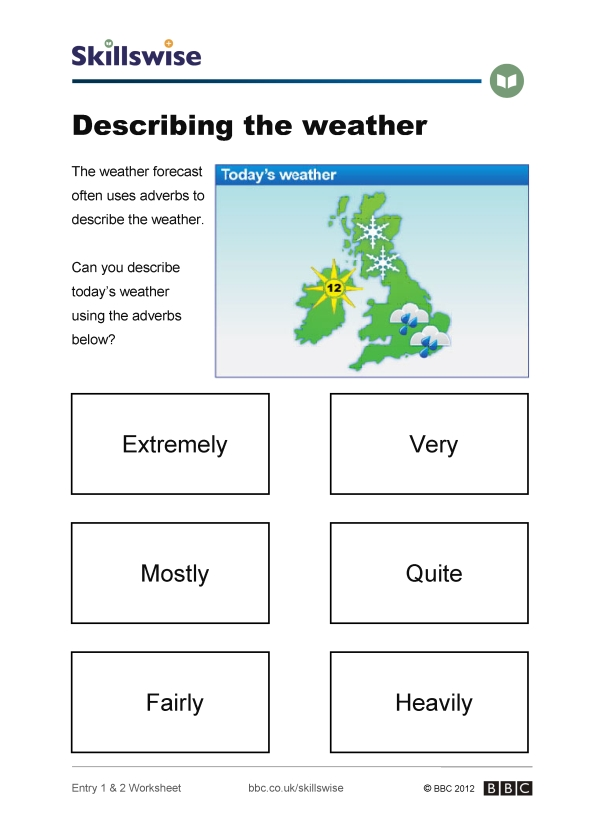 how to describe weather