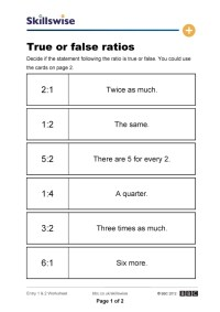 Math Worksheets Percentages Ratios And Proportions. Math ...