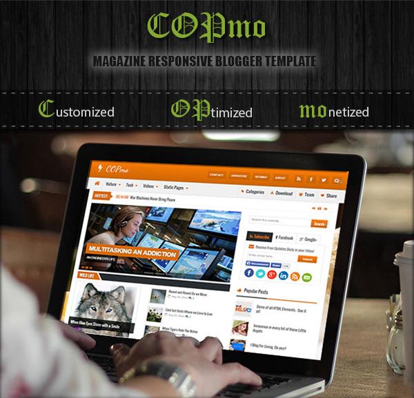 COPmo magazine responsive blogger template