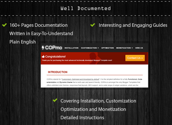 Blogger Template Documentation