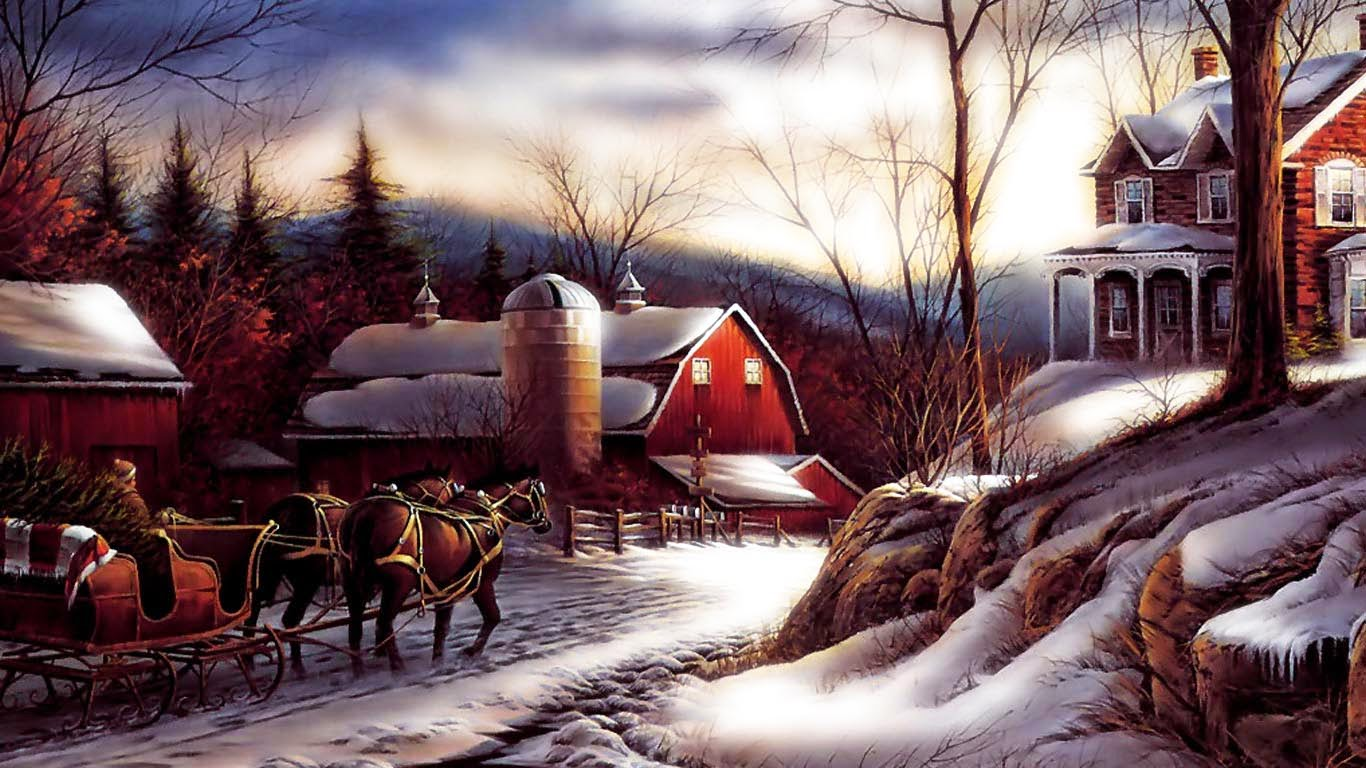3d Snowy Cottage Animated Wallpaper Free Download Jul Bakgrund Bakgrund Hd Downloadwallpaper Org