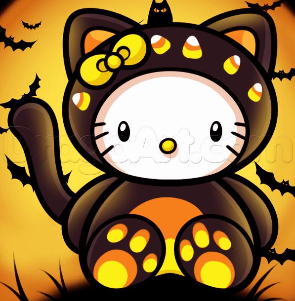 Diksha 3d Name Wallpaper Hallo Kitty Halloween Wallpaper Seite 2 Von 3
