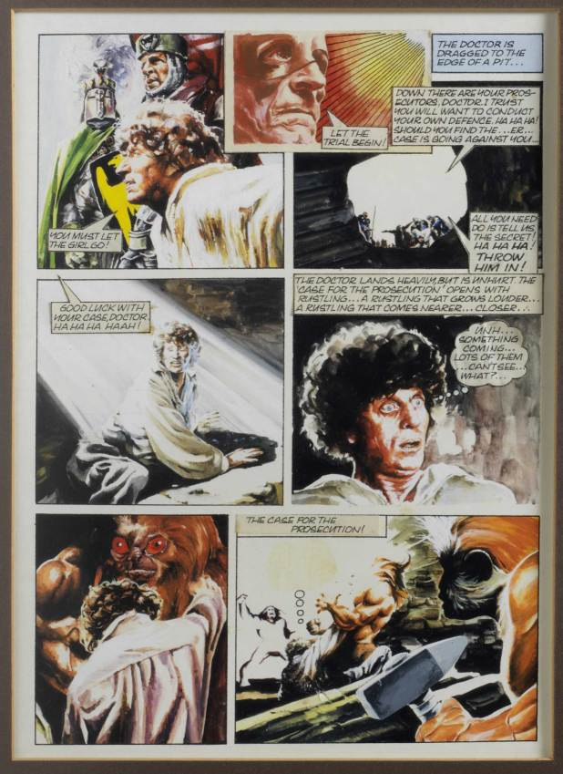 Art from 'The Power' by Paul Crompton, published in the 1979 Doctor Who Annual