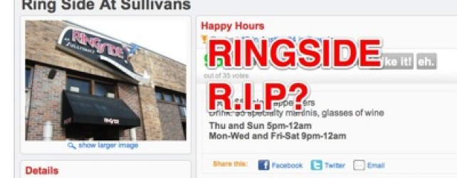 Ringside @ Sullivans Being Torn Down?