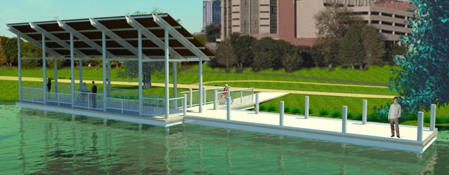 Fishing Pier Coming to Lady Bird Lake in Rainey Street, Downtown Austin