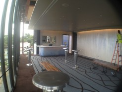 The interior of the 2nd story sky lounge in the Topfer Theatre.
