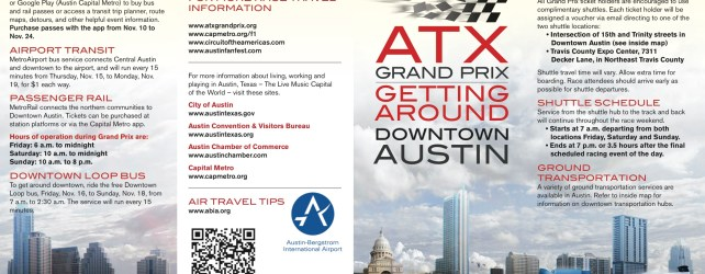 Getting Around Downtown Austin During Formula 1 (F1)