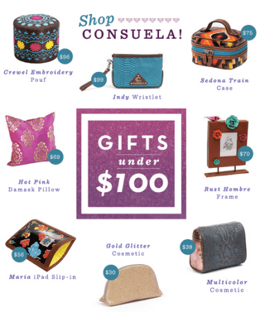 They've got gifts for under $100.  Click the image for the scoop.