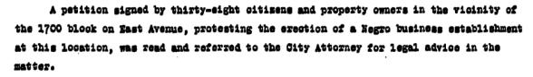 Austin City Council agenda item, Oct. 5, 1933