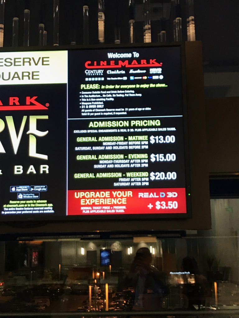 Bar Regal Adult Cinemark Theatre Opens At Lincoln Square Expansion