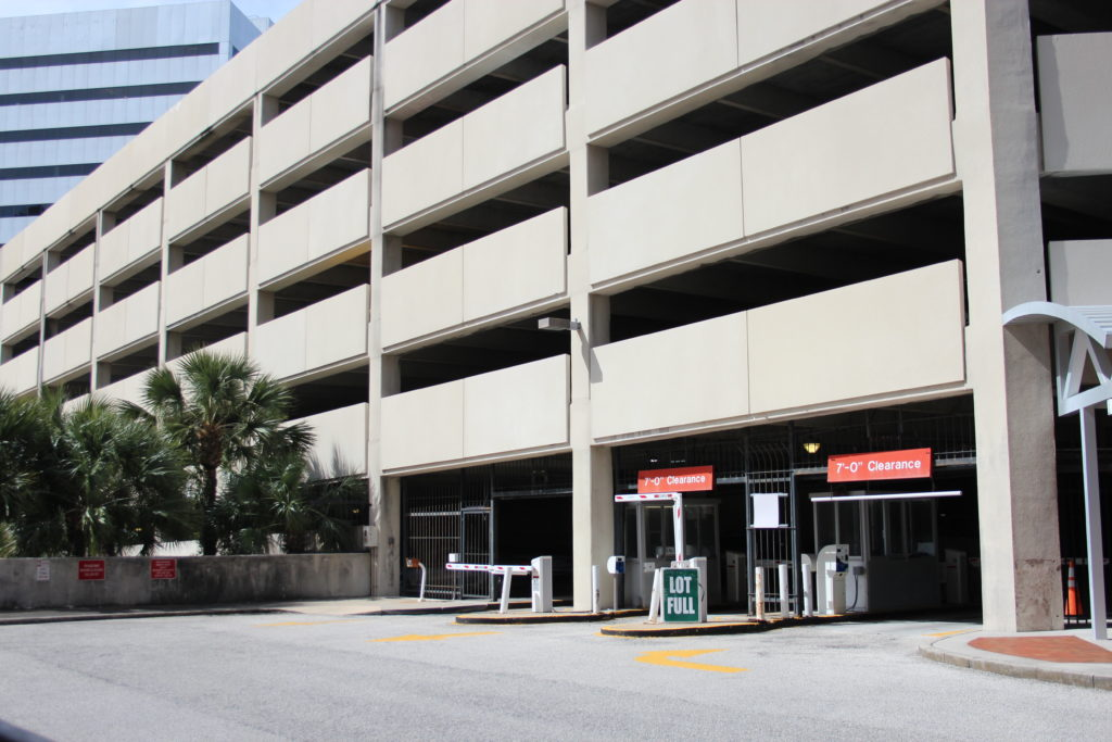 Water Street Parking Garage Downtown Jacksonville
