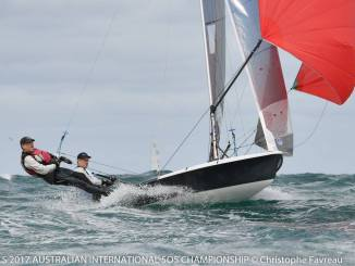 Sandy Higgins and Paul Marsh took out this year's 505 Nationals. Photos: Christophe Favreau.