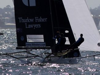 Thurlow Fisher Lawyers owned Sydney Harbour in today's race