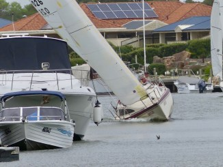 Racing was close to the shore in today's Club Marine Marina Challenge. Photos: Chris Caffin