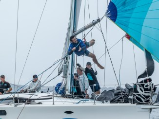 Some acrobatics on display on board Kym Clarke's Fresh. Photos: Take 2 Photography