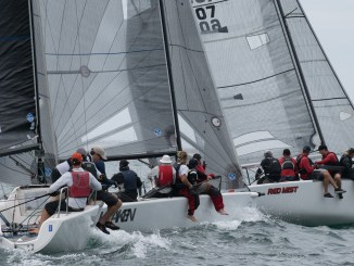 The fleet was tight on the penultimate day of racing. Photos: Ally Graham