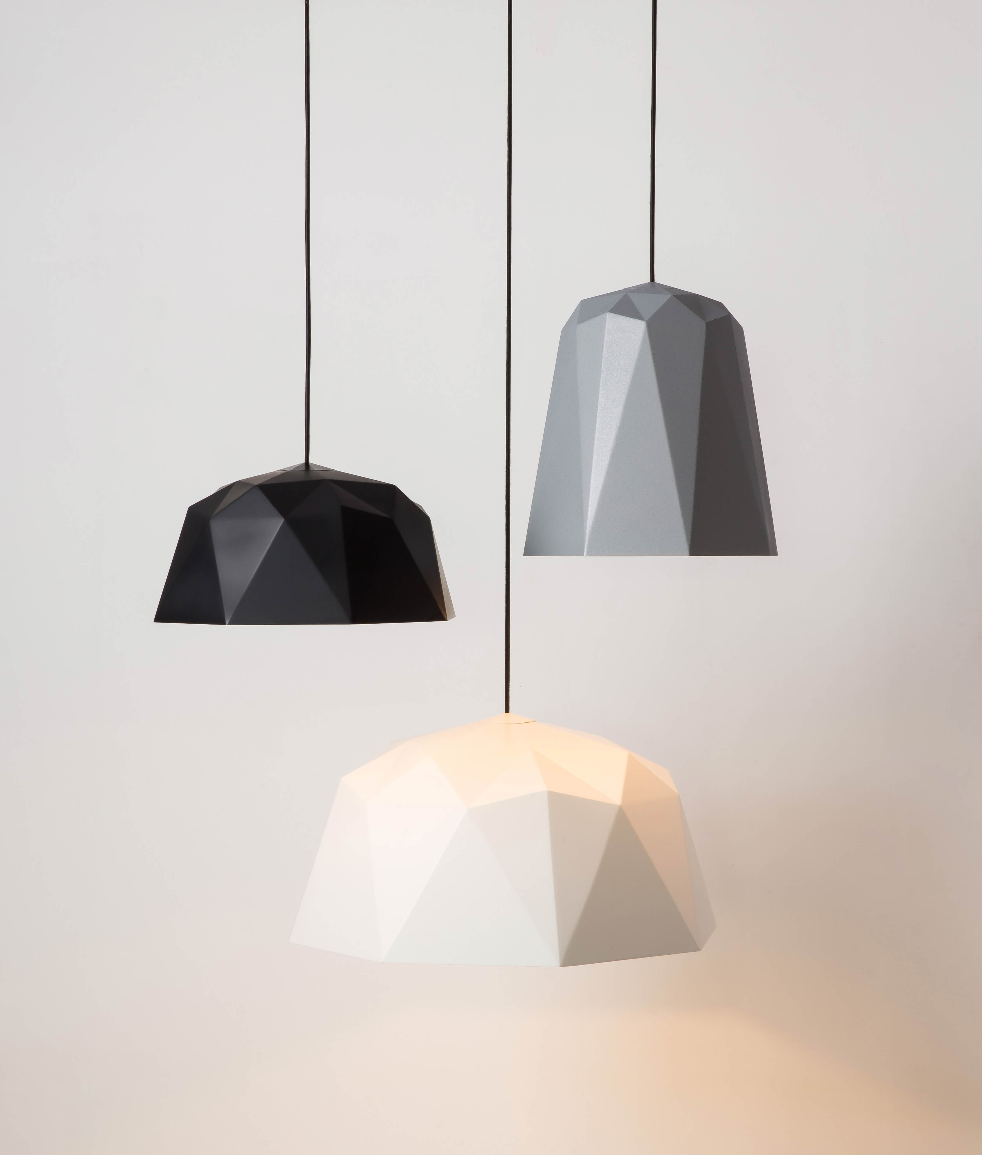 Light Pendants Geometric Pendant Light Osaka White
